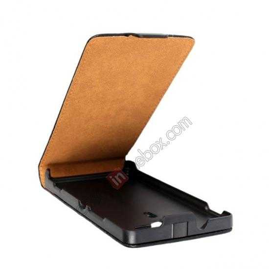 top quality Genuine leather Vertical Flip Case Cover For Sony Xperia SP M35h - Black