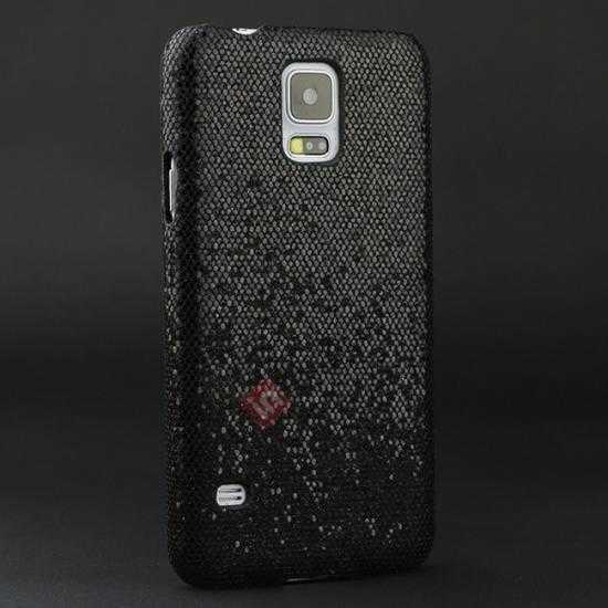 wholesale Glitter Evening Dress Pattern Hard Case Cover For Samsung Galaxy S5 - Black