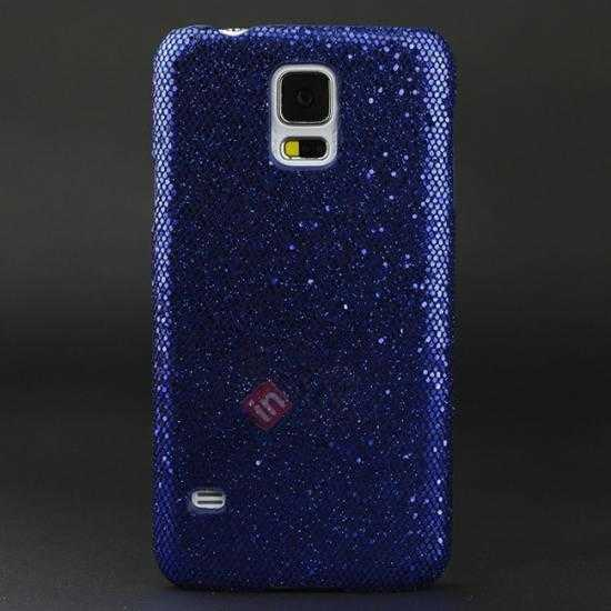 wholesale Glitter Evening Dress Pattern Hard Case Cover For Samsung Galaxy S5 - Dark blue