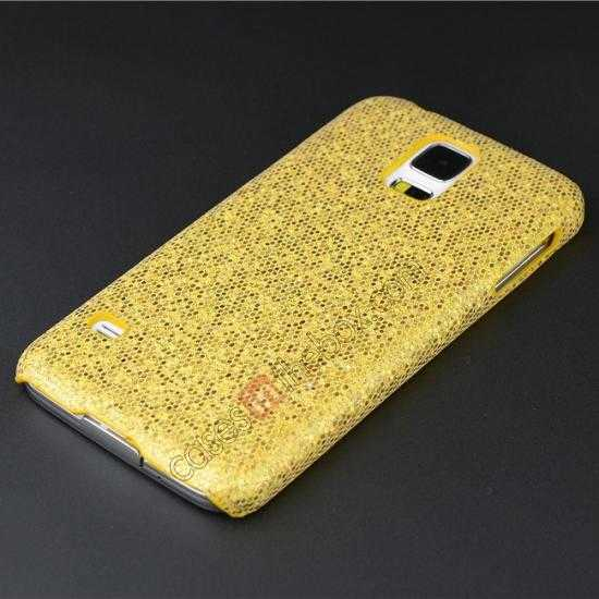 cheap Glitter Evening Dress Pattern Hard Case Cover For Samsung Galaxy S5 - Golden