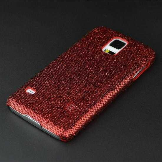 cheap Glitter Evening Dress Pattern Hard Case Cover For Samsung Galaxy S5 - Red