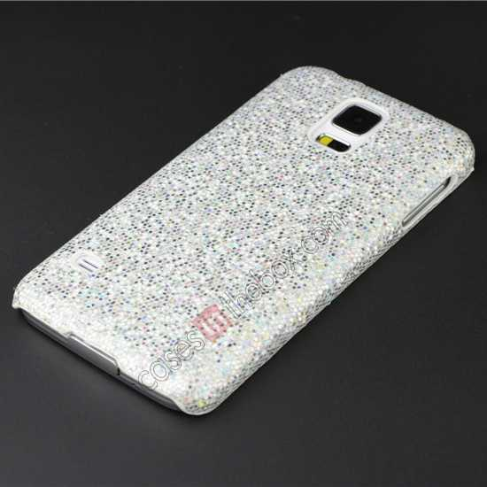 cheap Glitter Evening Dress Pattern Hard Case Cover For Samsung Galaxy S5 - Silver