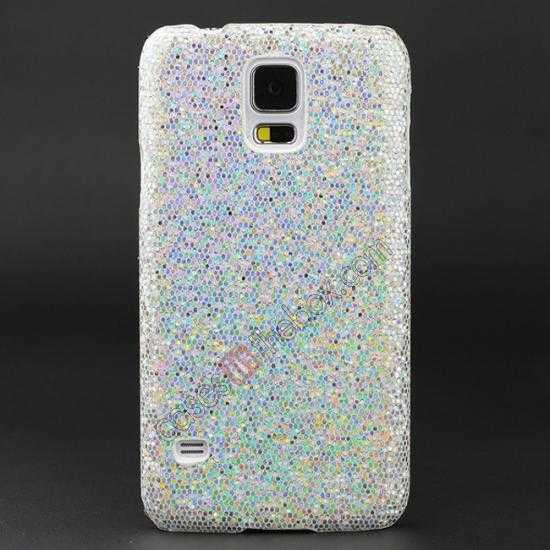 wholesale Glitter Evening Dress Pattern Hard Case Cover For Samsung Galaxy S5 - Silver