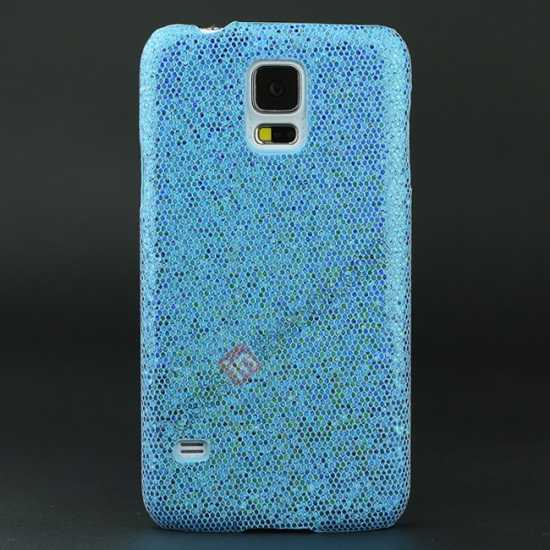 wholesale Glitter Evening Dress Pattern Hard Case Cover For Samsung Galaxy S5 - Sky blue