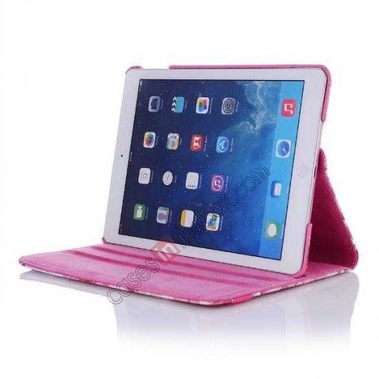 top quality Happy Flower 360 Degree Rotating Leather Stand Case for iPad Air