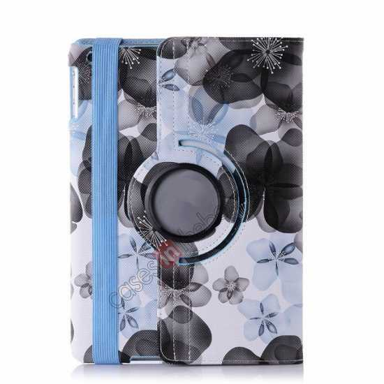 wholesale Happy Flower 360 Degree Rotating Leather Stand Case for iPad Air