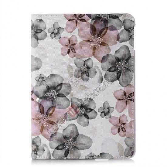 discount Happy Flower 360 Degree Rotating Leather Stand Case for iPad Air
