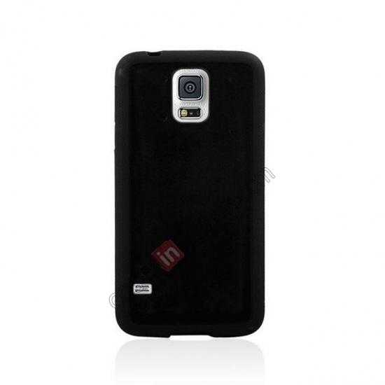 discount Hard Back Skin Cover Silicone Case for Samsung Galaxy S5 - Black