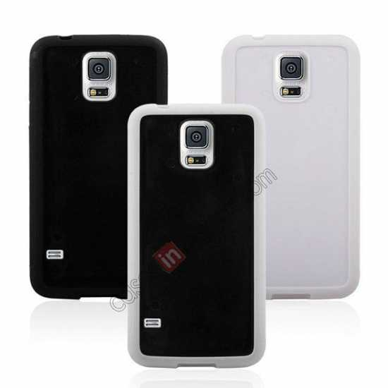 on sale Hard Back Skin Cover Silicone Case for Samsung Galaxy S5 - Black