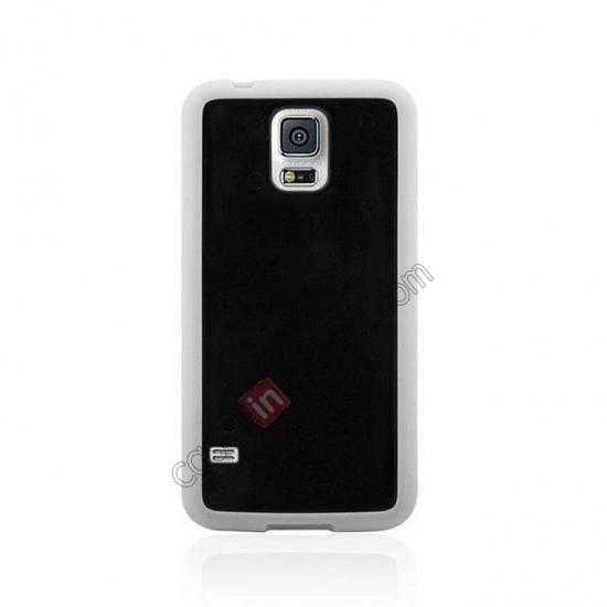 discount Hard Back Skin Cover Silicone Case for Samsung Galaxy S5 - White&Black
