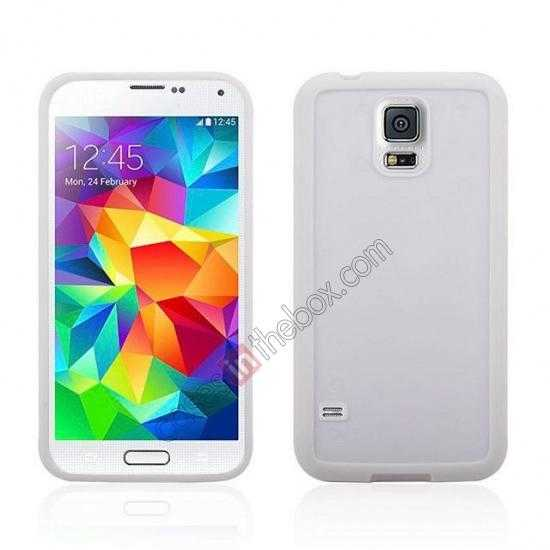 wholesale Hard Back Skin Cover Silicone Case for Samsung Galaxy S5 - White