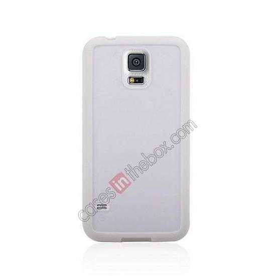 discount Hard Back Skin Cover Silicone Case for Samsung Galaxy S5 - White