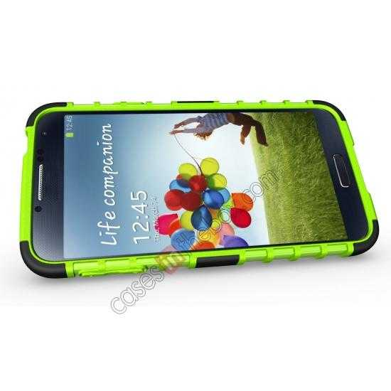 top quality Heavy Duty Strong TPU Case Cover Stand For Samsung Galaxy S5 - Green