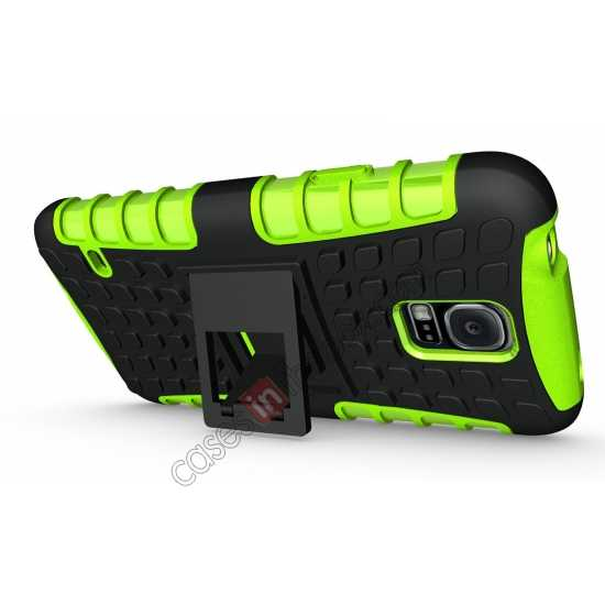 discount Heavy Duty Strong TPU Case Cover Stand For Samsung Galaxy S5 - Green