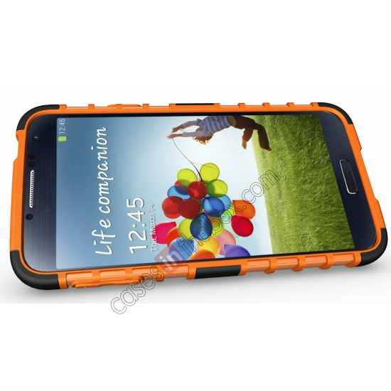 top quality Heavy Duty Strong TPU Case Cover Stand For Samsung Galaxy S5 - Orange