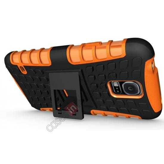 discount Heavy Duty Strong TPU Case Cover Stand For Samsung Galaxy S5 - Orange