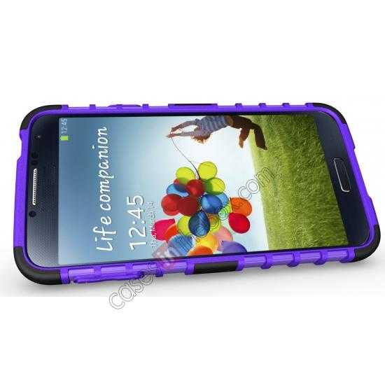 top quality Heavy Duty Strong TPU Case Cover Stand For Samsung Galaxy S5 - Purple
