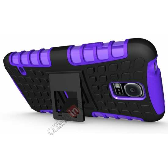 discount Heavy Duty Strong TPU Case Cover Stand For Samsung Galaxy S5 - Purple