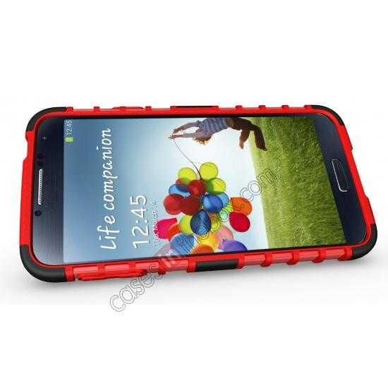 top quality Heavy Duty Strong TPU Case Cover Stand For Samsung Galaxy S5 - Red