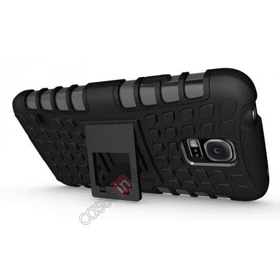 discount Heavy Duty Strong TPU Case Cover Stand For Samsung Galaxy S5 - Black