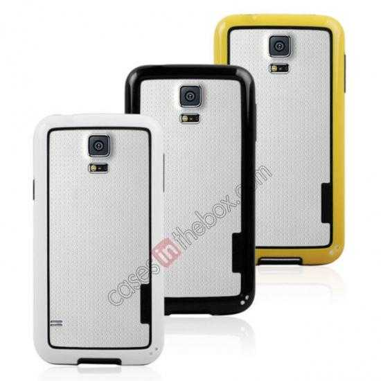 best price High Quality Bumper Case Skin Cover Frame Case For Samsung Galaxy S5 SV - White