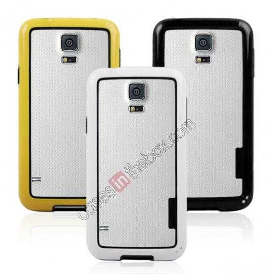 on sale High Quality Bumper Case Skin Cover Frame Case For Samsung Galaxy S5 SV - White