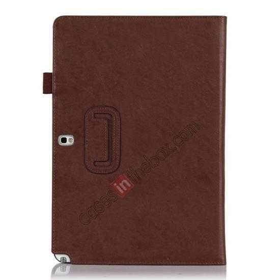 cheap High quality Cow Leather Folio Case Stand Cover for Samsung Galaxy Tab Pro 12.2 P900 - Brown