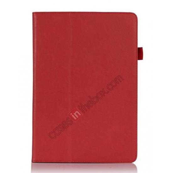 discount High quality Cow Leather Folio Case Stand Cover for Samsung Galaxy Tab Pro 12.2 P900 - Red