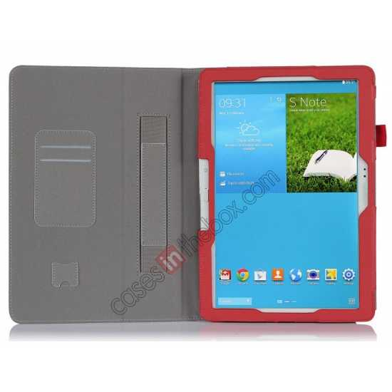 top quality High quality Cow Leather Folio Case Stand Cover for Samsung Galaxy Tab Pro 12.2 P900 - Red