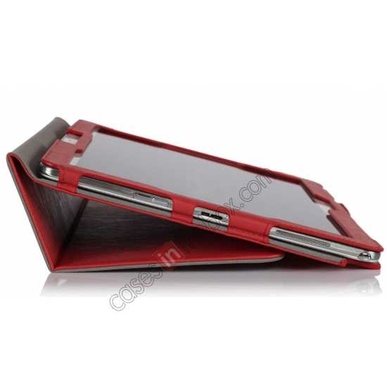 on sale High quality Cow Leather Folio Case Stand Cover for Samsung Galaxy Tab Pro 12.2 P900 - Red