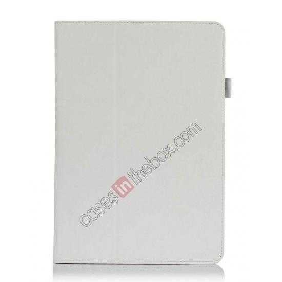 discount High quality Cow Leather Folio Case Stand Cover for Samsung Galaxy Tab Pro 12.2 P900 - White