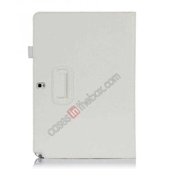cheap High quality Cow Leather Folio Case Stand Cover for Samsung Galaxy Tab Pro 12.2 P900 - White