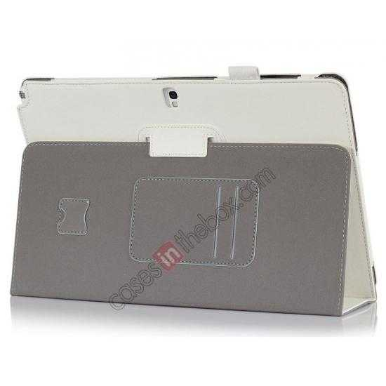 wholesale High quality Cow Leather Folio Case Stand Cover for Samsung Galaxy Tab Pro 12.2 P900 - White