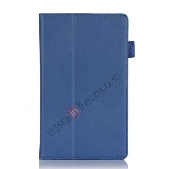 best price High quality Cow Leather Pattern Folio Case stand cover for Lenovo Thinkpad 8 - Blue