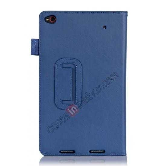on sale High quality Cow Leather Pattern Folio Case stand cover for Lenovo Thinkpad 8 - Blue