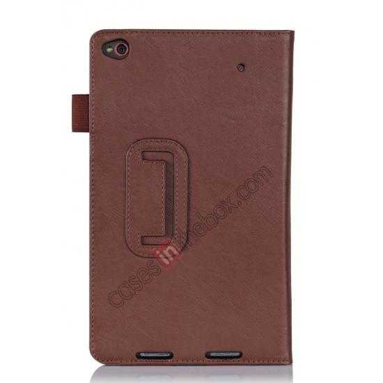on sale High quality Cow Leather Pattern Folio Case stand cover for Lenovo Thinkpad 8 - Brown