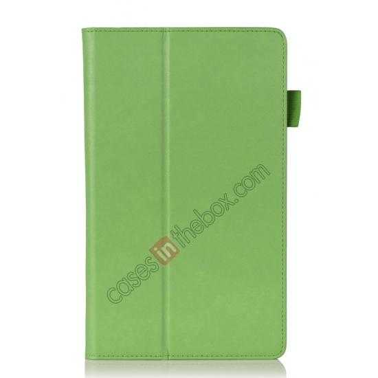 best price High quality Cow Leather Pattern Folio Case stand cover for Lenovo Thinkpad 8 - Green