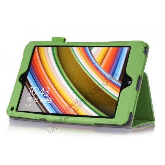 discount High quality Cow Leather Pattern Folio Case stand cover for Lenovo Thinkpad 8 - Green