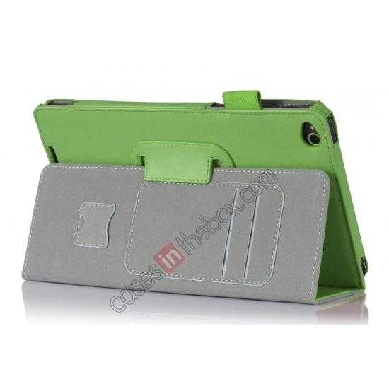 cheap High quality Cow Leather Pattern Folio Case stand cover for Lenovo Thinkpad 8 - Green