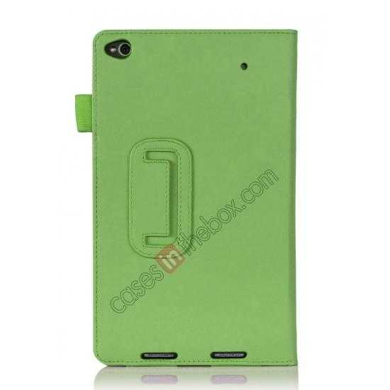 on sale High quality Cow Leather Pattern Folio Case stand cover for Lenovo Thinkpad 8 - Green