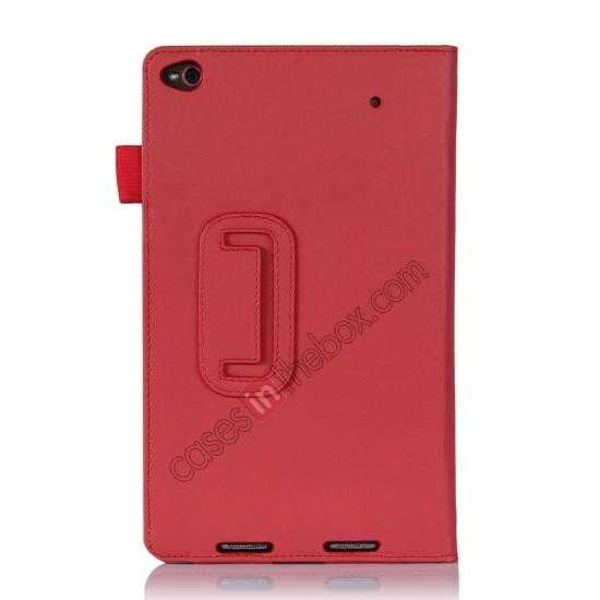 on sale High quality Cow Leather Pattern Folio Case stand cover for Lenovo Thinkpad 8 - Red