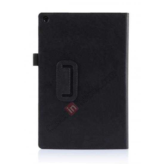 on sale High quality Cow Leather Pattern Folio Case stand cover for Sony Xperia 10.1 Z2 Tablet - Black