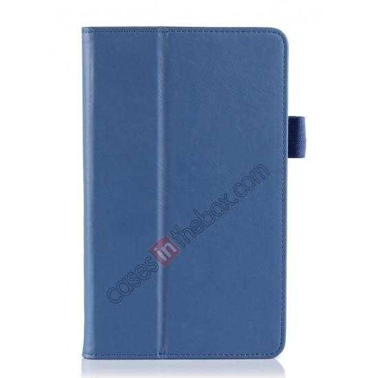 best price High quality Cow Leather Pattern Folio Case stand cover for Toshiba AT7-B8 - Blue