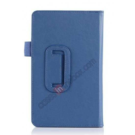on sale High quality Cow Leather Pattern Folio Case stand cover for Toshiba AT7-B8 - Blue