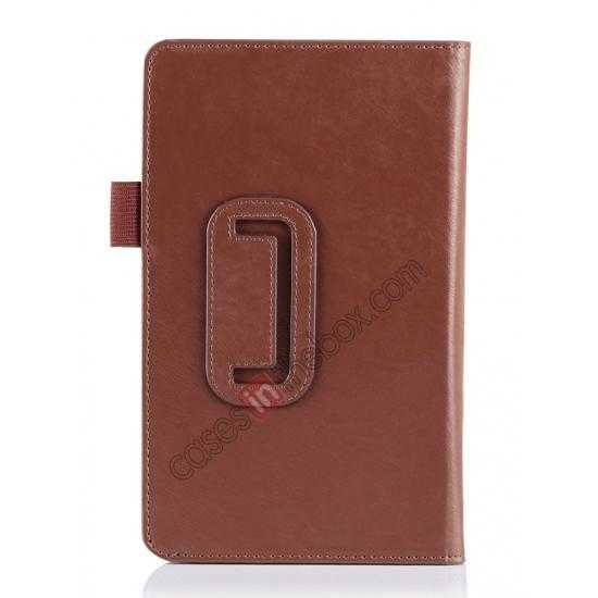 on sale High quality Cow Leather Pattern Folio Case stand cover for Toshiba AT7-B8 - Brown