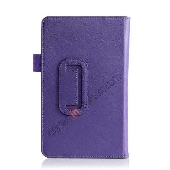 on sale High quality Cow Leather Pattern Folio Case stand cover for Toshiba AT7-B8 - Purple