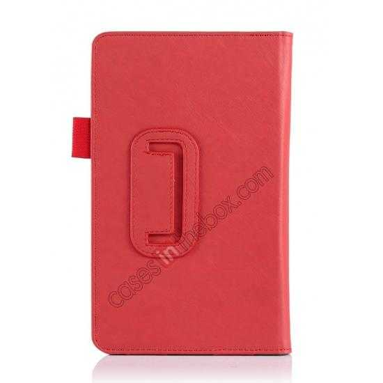 on sale High quality Cow Leather Pattern Folio Case stand cover for Toshiba AT7-B8 - Red