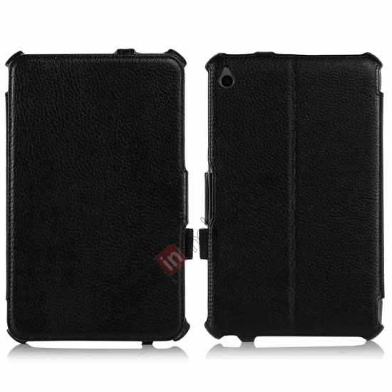 wholesale High quality Heat Setting Leather Smart Slim Case Cover for Acer Iconia W4-820 - Black