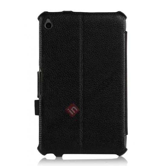 high quanlity High quality Heat Setting Leather Smart Slim Case Cover for Acer Iconia W4-820 - Black