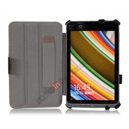 discount High quality Heat Setting Leather Smart Slim Case Cover for Acer Iconia W4-820 - Black